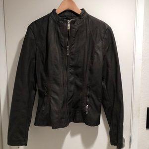 Jackets & Blazers - Vegan leather biker jacket
